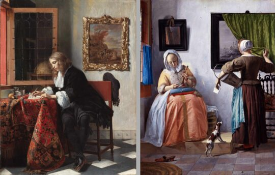 Man Writing and Woman Reading