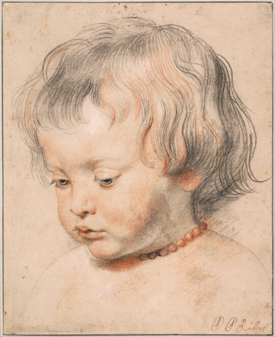 Nicolaas Rubens with Coral Necklace