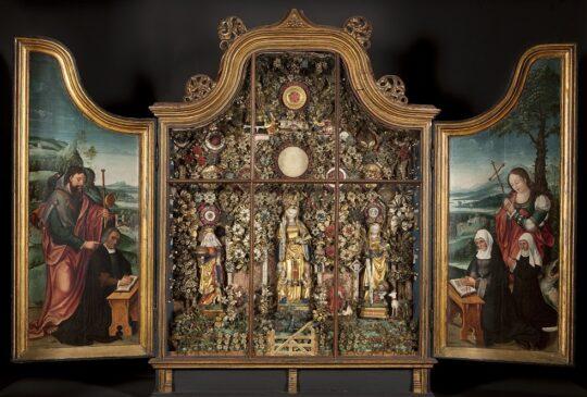 Enclosed Garden with Saints Elisabeth, Ursula and Catharina