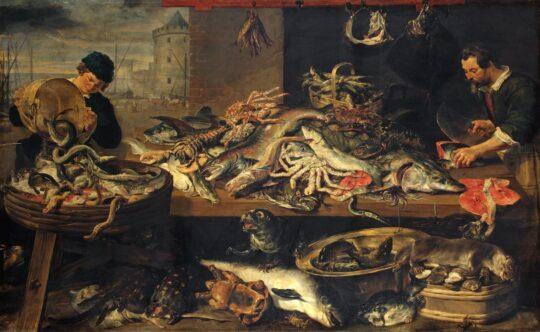 Four Market Scenes